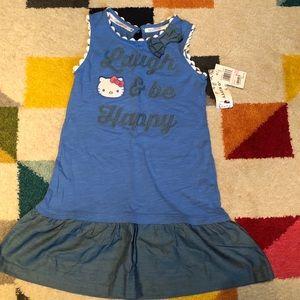 hello kitty girls dress size 6x nwt